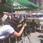 Jess Lynch en tournage à Sarajevo.