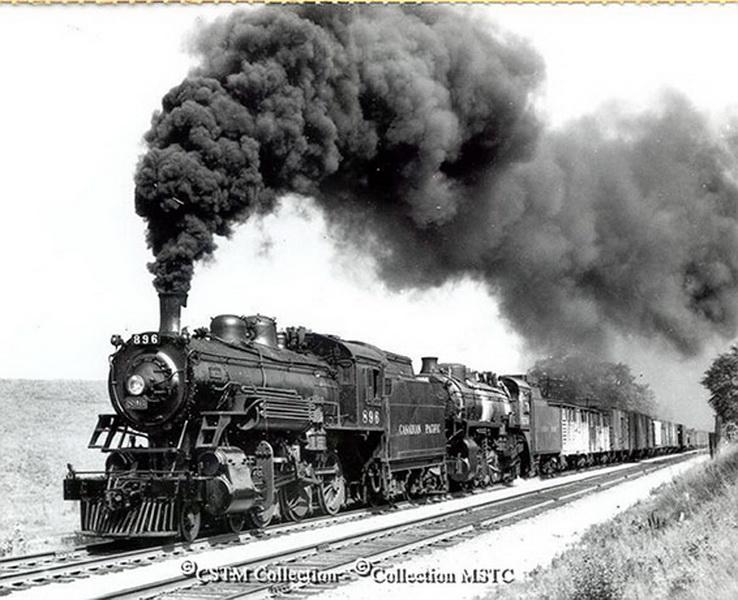 Lorsque le train passe, la terre tremble.
