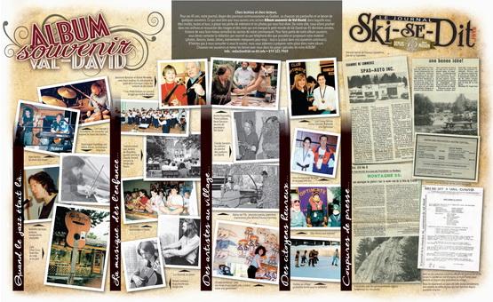 Télécharger la page centrale réunissant l'album souvenir des 45 ans du journal.