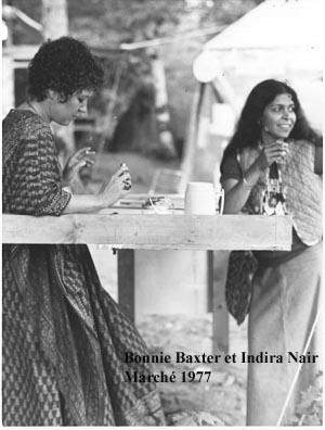 Bonnie Baxter et Indira Nair en 1977.