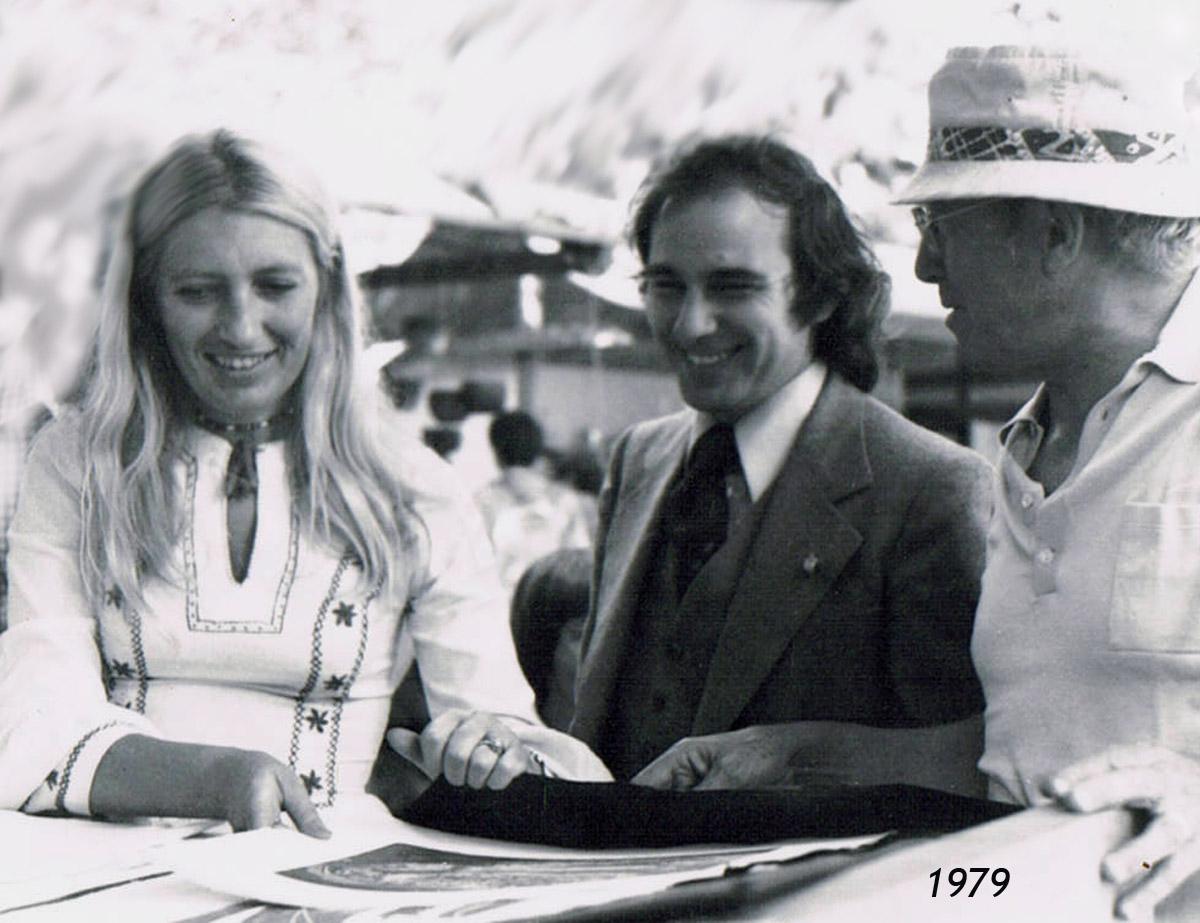 Jocelyne Aird-Bélanger le député Jacques Léonard et le père de Jocelyne.